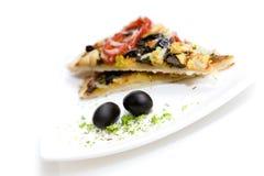 Plantaardige pizza stock afbeeldingen
