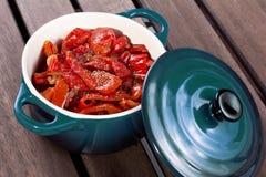 Plantaardige Ragoût in pot Stock Afbeelding