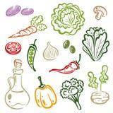 Plantaardige salade, Royalty-vrije Stock Afbeelding
