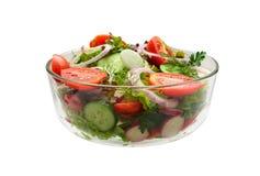 Plantaardige salade op een witte achtergrond stock afbeelding