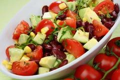 Plantaardige salademengeling Stock Foto