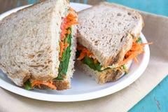 Plantaardige Sandwich Royalty-vrije Stock Afbeeldingen