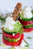 Plantaardige sandwich Stock Afbeeldingen
