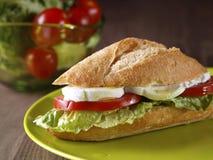 Plantaardige sandwich. Bocadillo planten-. Royalty-vrije Stock Fotografie