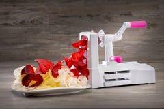 Plantaardige snijmachine stock afbeelding