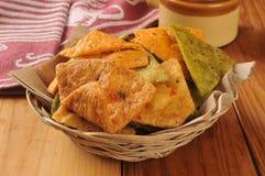 Plantaardige tortillaspaanders stock afbeeldingen