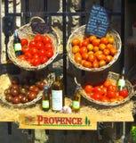 Plantaardige Tribunevertoning Frankrijk de Provence stock foto