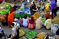 Plantaardige verkopers, Java, Indonesië royalty-vrije stock fotografie