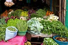 Plantaardige winkel in Sri Lanka stock foto's