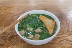 Plantaardige Wonton-Soep in Vietnam Royalty-vrije Stock Foto