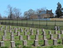 Plantación confederada del campo de batalla Foto de archivo
