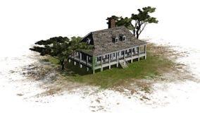Plantacja dom z parasolową sosną Zdjęcie Royalty Free