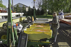 Plantador do milho da carga Foto de Stock