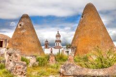Plantage Jaral de Berrios i Guanajuato Mexico arkivfoto