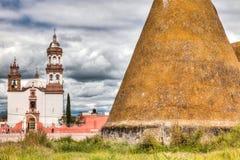 Plantage Jaral de Berrios i Guanajuato Mexico arkivfoton