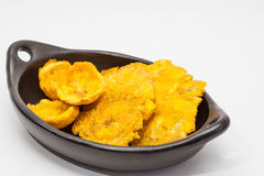 Plantain cups and patacones Stock Image