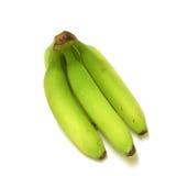 Plantain - Green bananas. Isolated green bananas - plantain Royalty Free Stock Photography