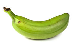 Plantain. Is a starchy and low in sugar banana that is cooked before serving as it is unsuitable raw Royalty Free Stock Image