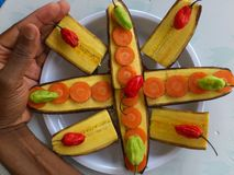 PLANTAINS BANANAS AND CULINARY ART Royalty Free Stock Photos