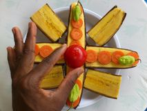 PLANTAINS BANANAS AND CULINARY ART Royalty Free Stock Photo