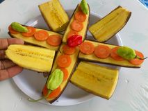 PLANTAINS BANANAS AND CULINARY ART Royalty Free Stock Image