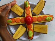 PLANTAINS BANANAS AND CULINARY ART Royalty Free Stock Photography