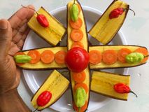 PLANTAINS BANANAS AND CULINARY ART Stock Image