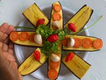 PLANTAINS BANANAS AND CULINARY ART Stock Photos