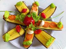 PLANTAINS BANANAS AND CULINARY ART Stock Images