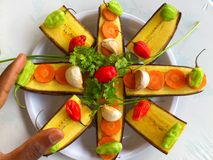 PLANTAINS BANANAS AND CULINARY ART Royalty Free Stock Images