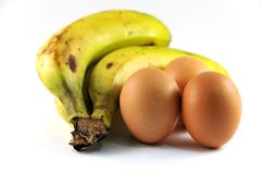 Plantains with eggs Royalty Free Stock Photos