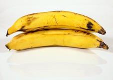 Plantains, not bananas. Stacked up royalty free stock image
