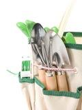 Plantando o saco com ferramentas de jardim fotografia de stock royalty free