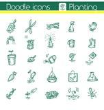 Plantant, icônes de vecteur illustration stock