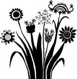 Plantas abstractas stock de ilustración
