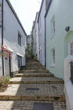 Plantas Brixham Torbay Devon Endland Reino Unido das casas das etapas Imagens de Stock Royalty Free