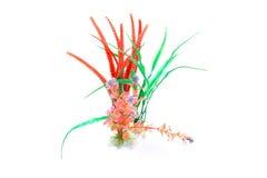 Plantas coloreadas plástico Foto de archivo