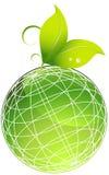 Plantas com globo verde ilustração stock
