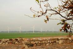 Plantas das energias eólicas Imagens de Stock