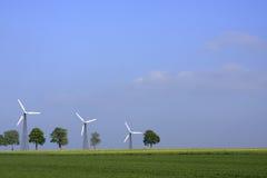 Plantas das energias eólicas Fotografia de Stock