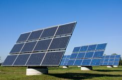 Plantas de energía solar Imagen de archivo libre de regalías