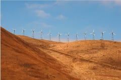 Plantas de la energía eólica en los E.E.U.U. Fotografía de archivo
