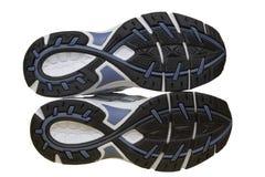 Plantas del pie del zapato del deporte Imagen de archivo