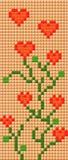 Plantas do pixel Imagem de Stock Royalty Free