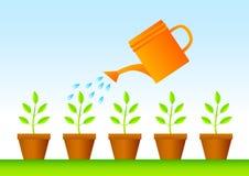 Plantas en crisoles stock de ilustración