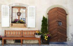 Plantas na frente dos indicadores e das portas Foto de Stock Royalty Free