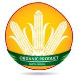Plantas orgânicas, etiqueta do milho Imagens de Stock
