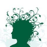 Plantas que crescem da cabeça humana Imagem de Stock