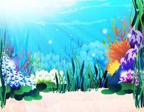 Plantas subacuáticas ilustración del vector