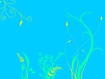 Plantas subaquáticas que crescem na cama do oceano do mar ilustração royalty free